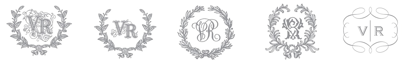 Monogram and border design process