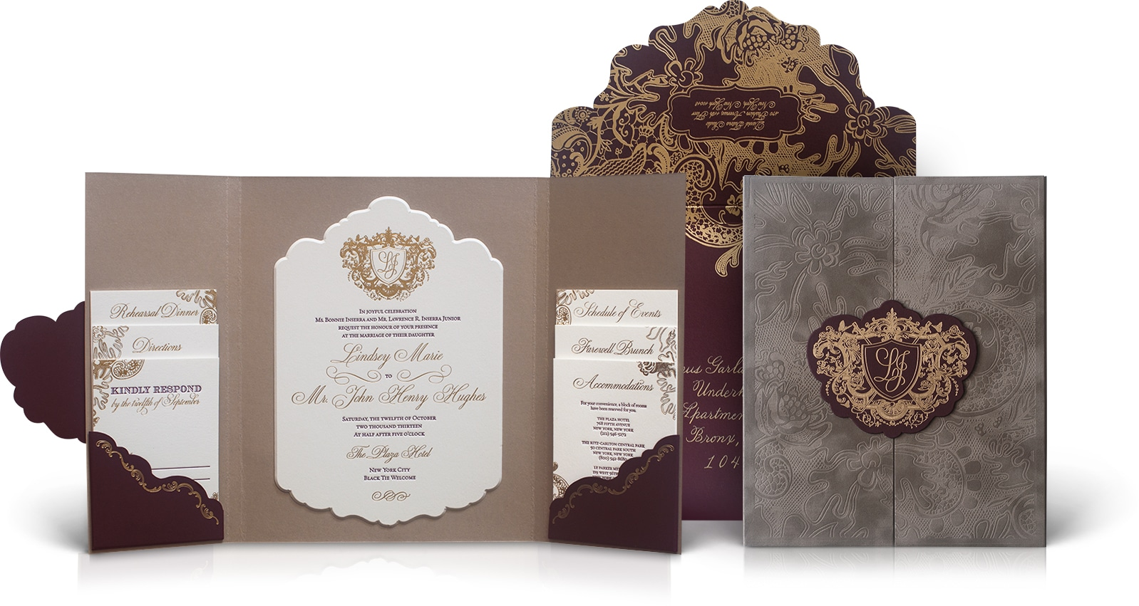The Plaza wedding invitation