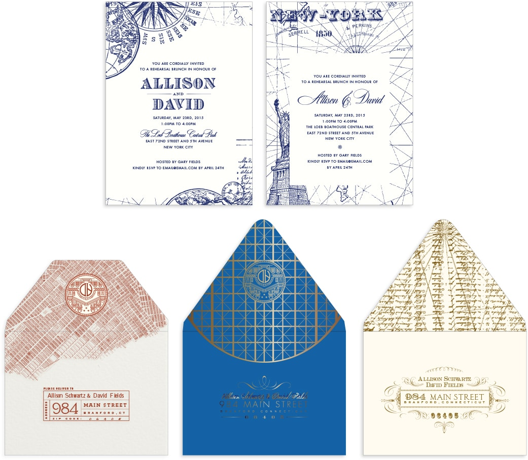 Travel inspired enclosure cards and envelopes
