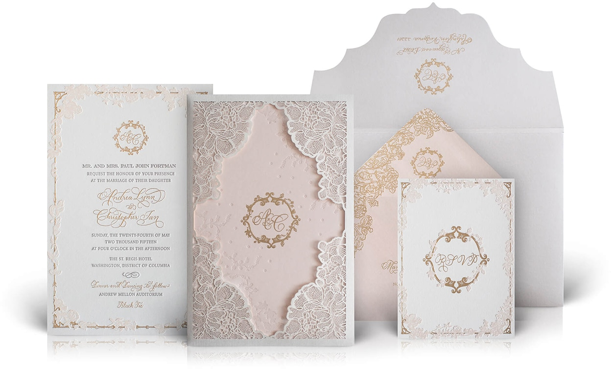 Washington DC luxury wedding invitation