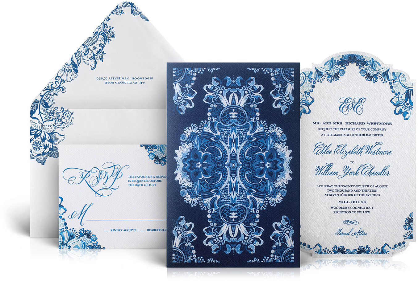 Mill House wedding invitation