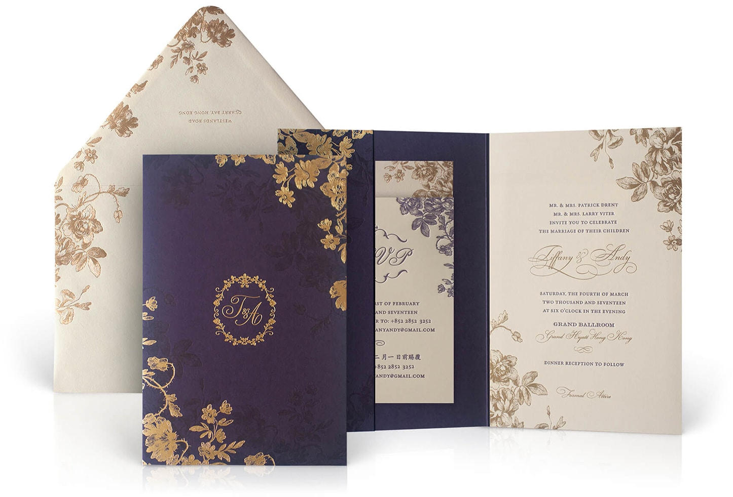 Grand Hyatt Hong Kong wedding invitation