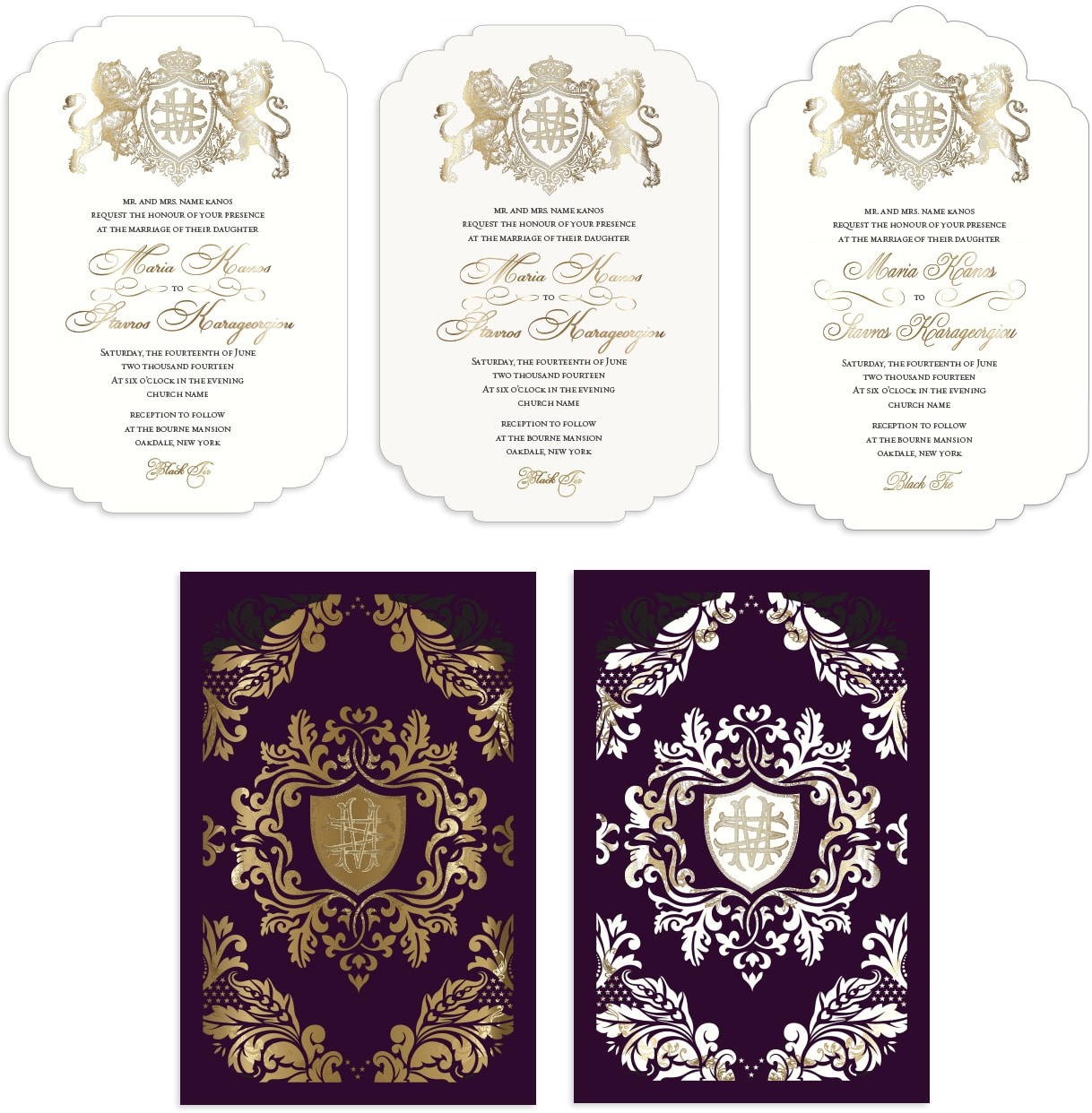 Ornate laser cut sleeve and invitation sketches