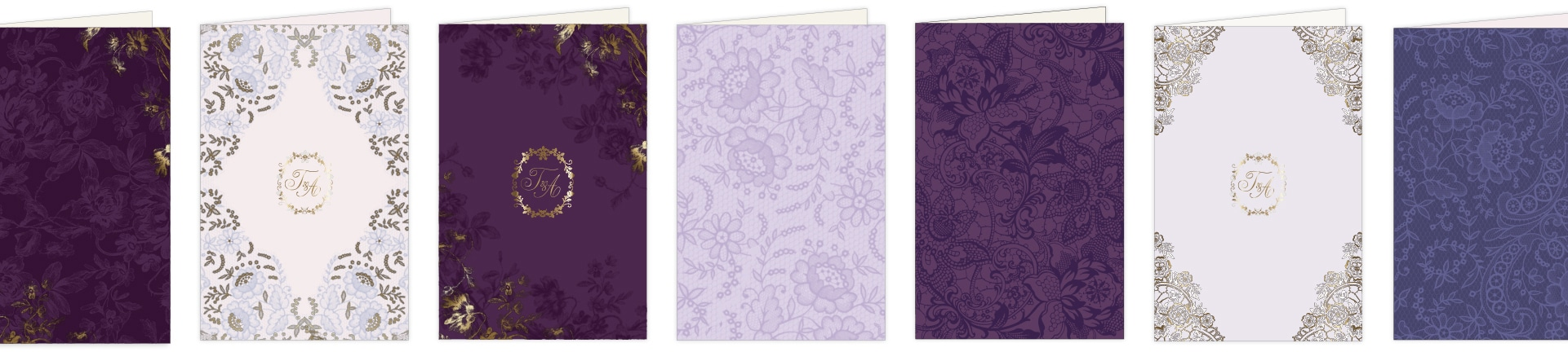 Purple lace and floral folders