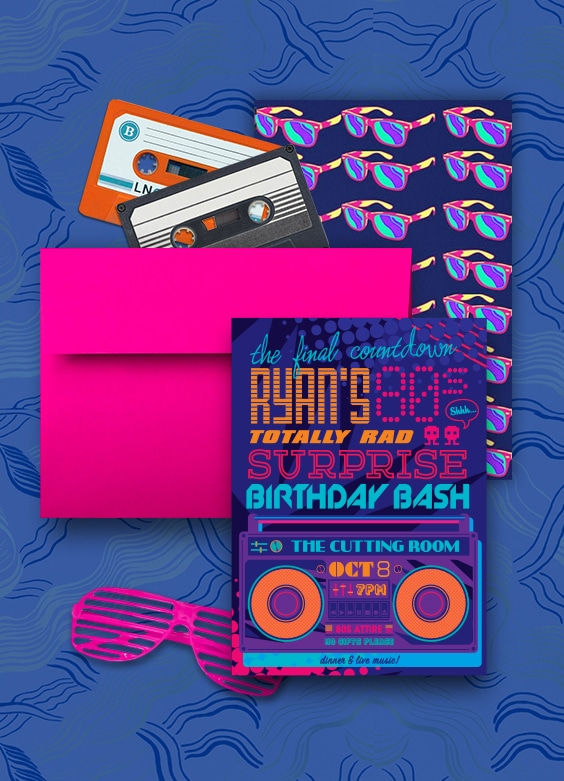 80s Birthday party invitation | By Atelier Isabey