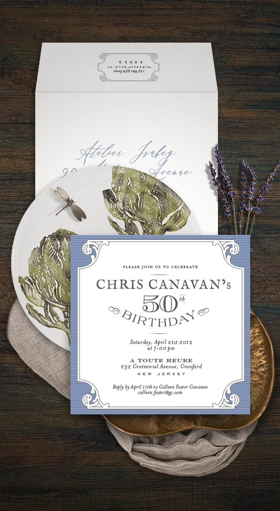 Farm to table rustic birthday party invitation | By Atelier Isabey