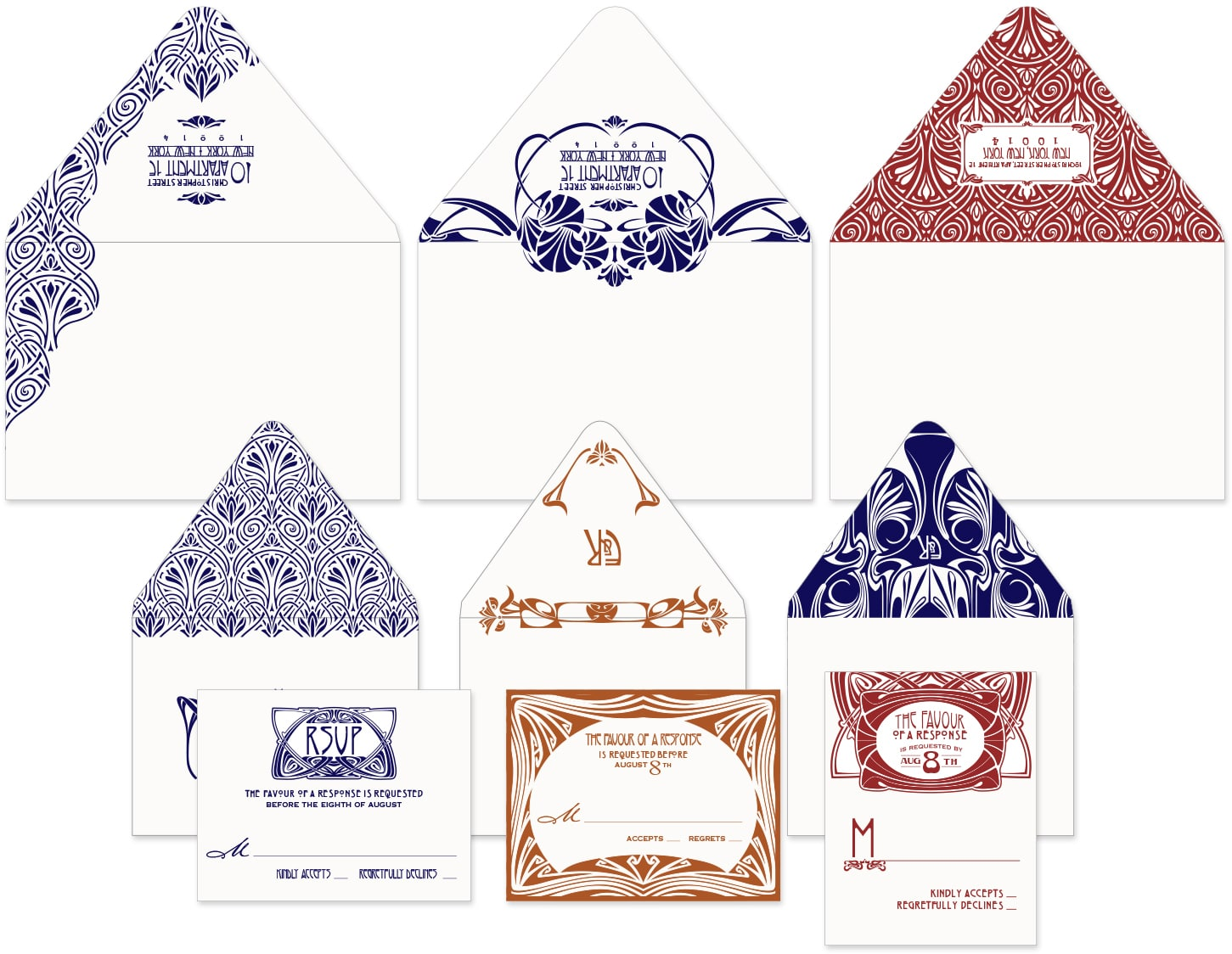 Belle Epoque envelopes