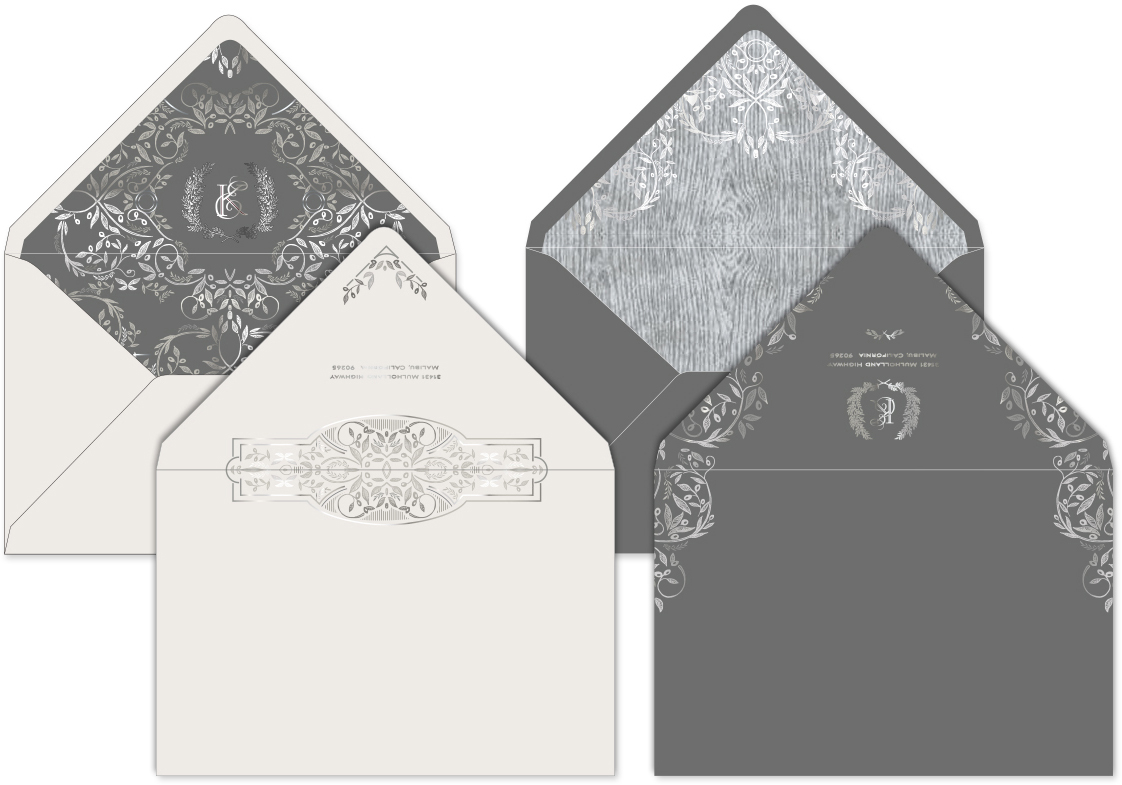 Elegant envelopes and liners