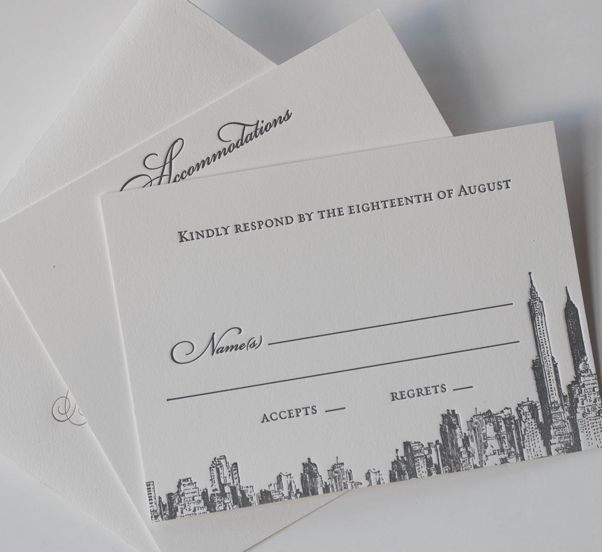New York skyline reply card