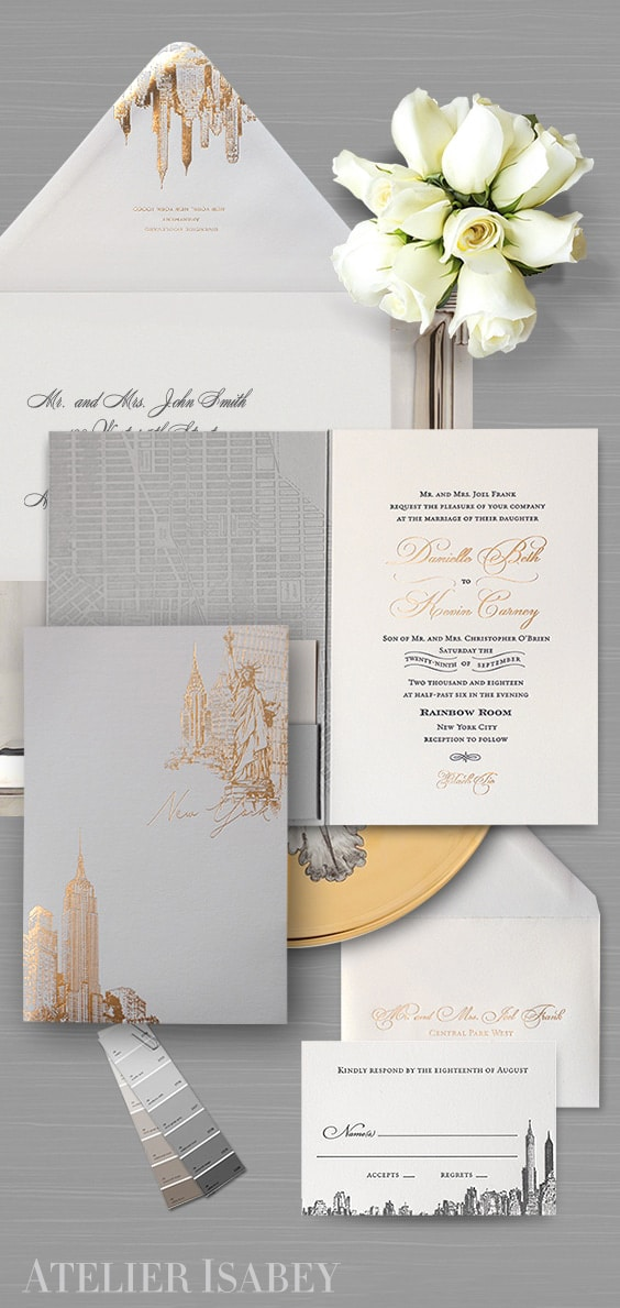Rainbow Room Wedding Invitation