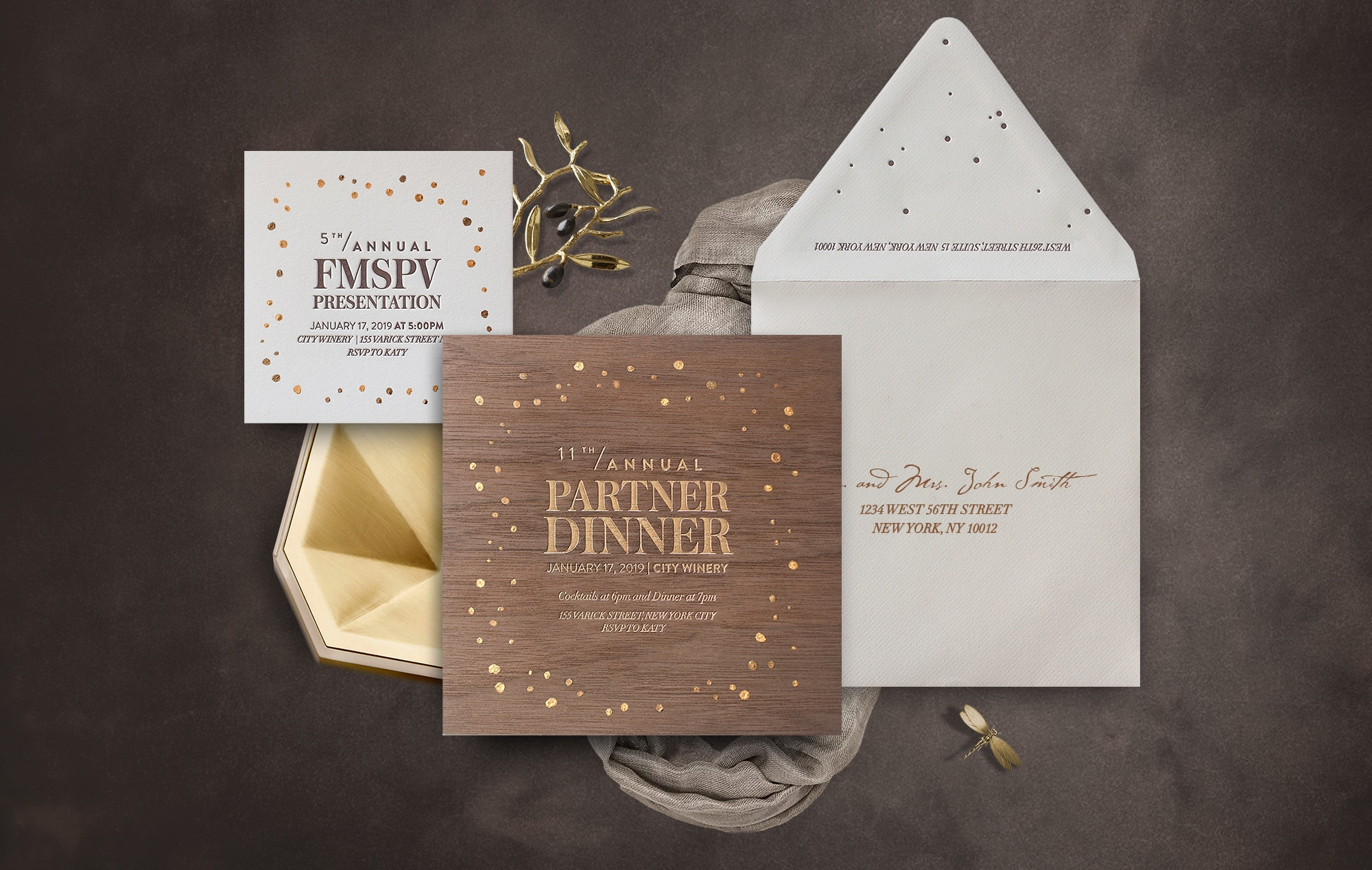 Wood Veneer invitation