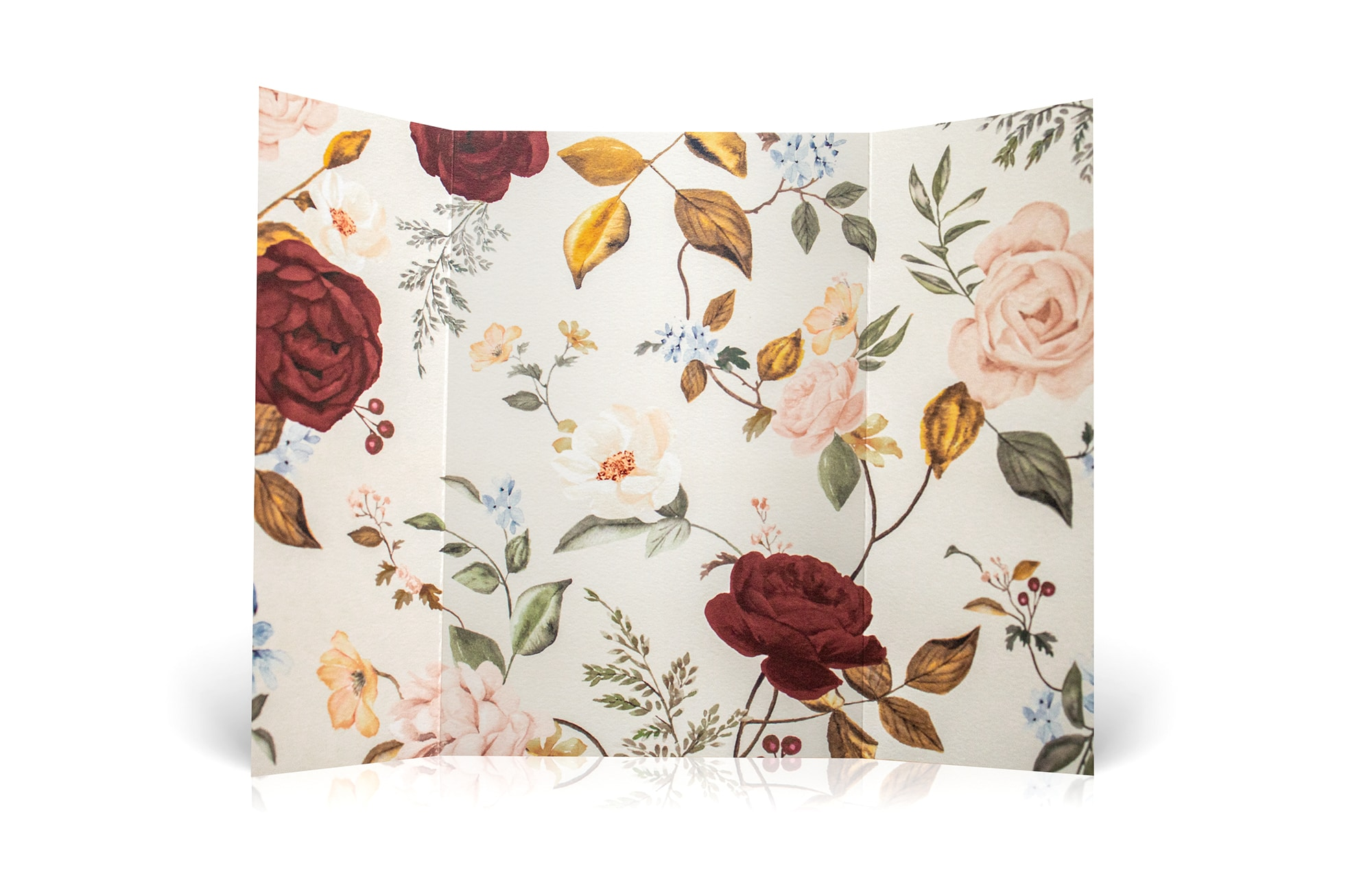 Gatefold wrap with roses