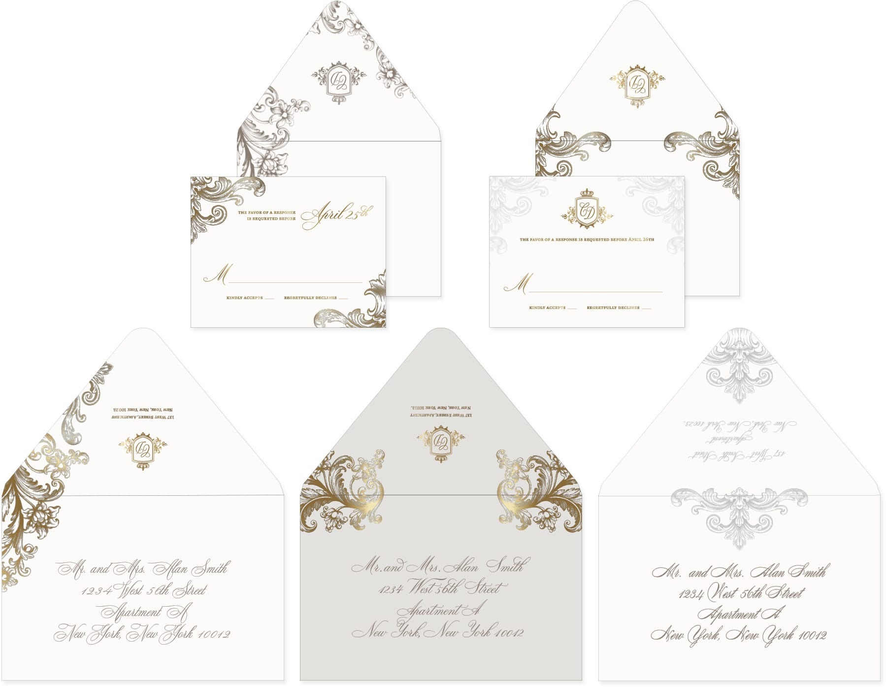 Envelope designs and reply cards