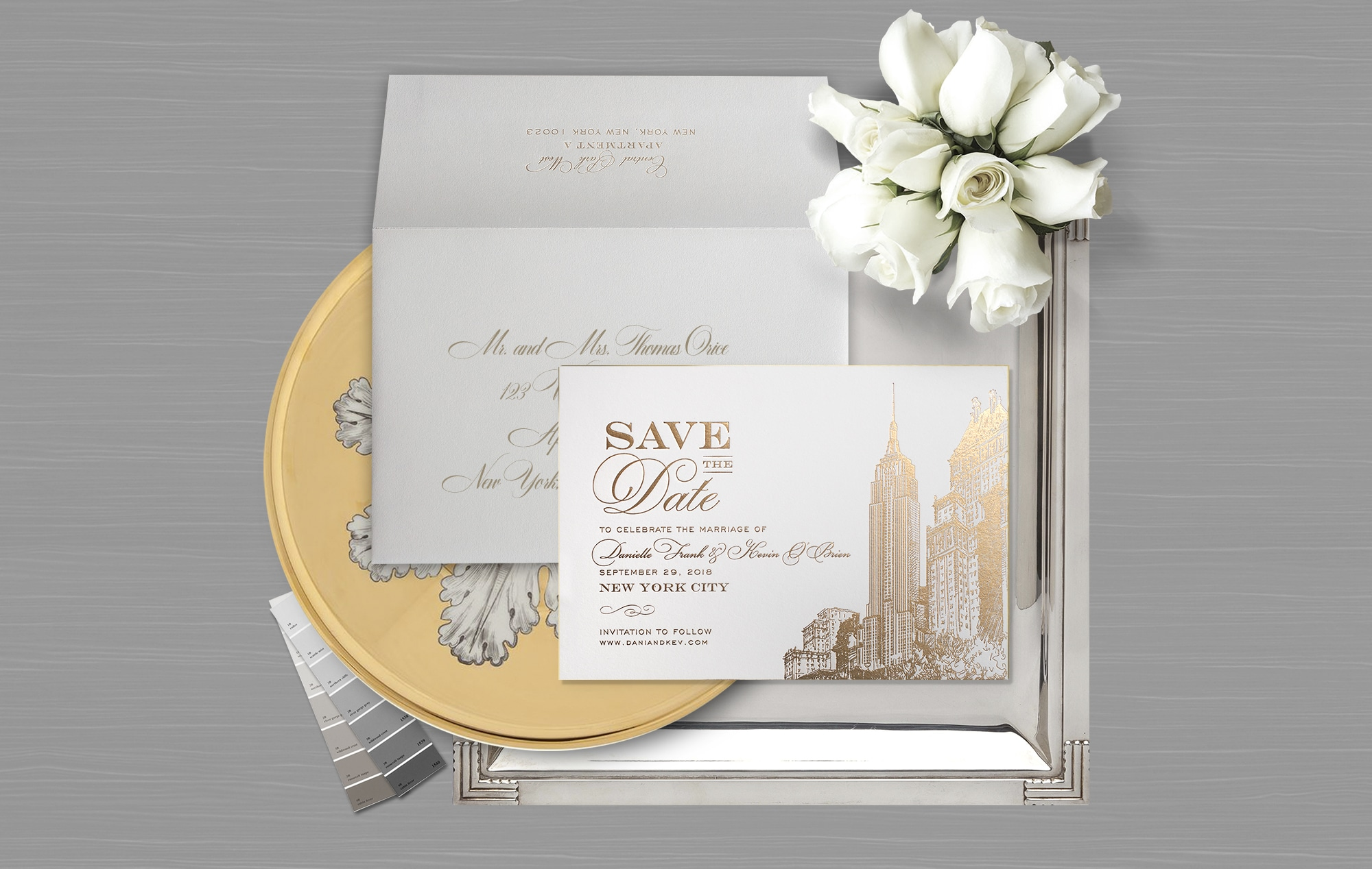 Empire State Building inspired Save the Date