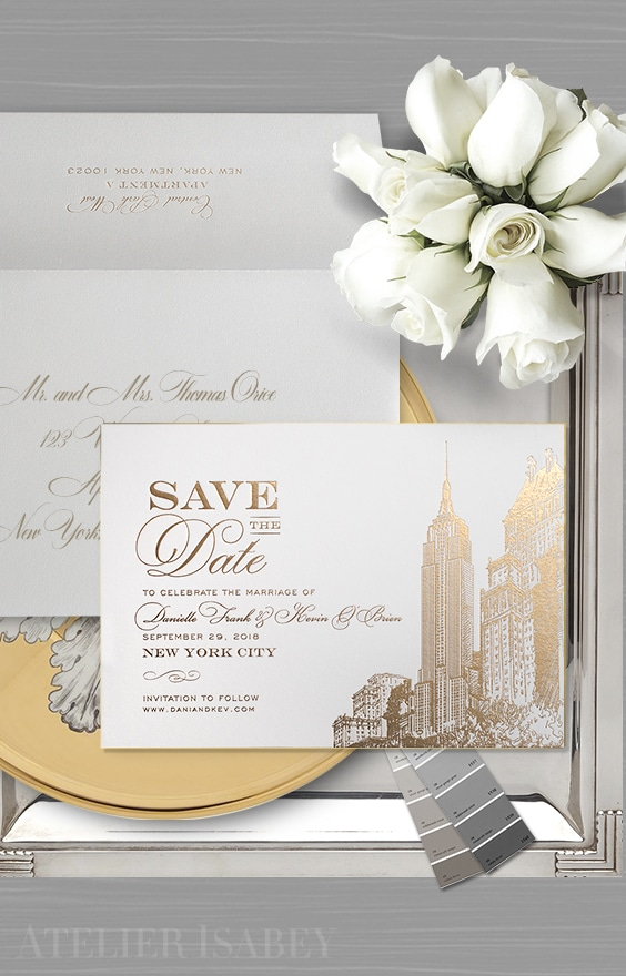 New York City inspired Save the Date