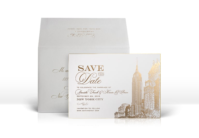 Empire State Building Save the Date