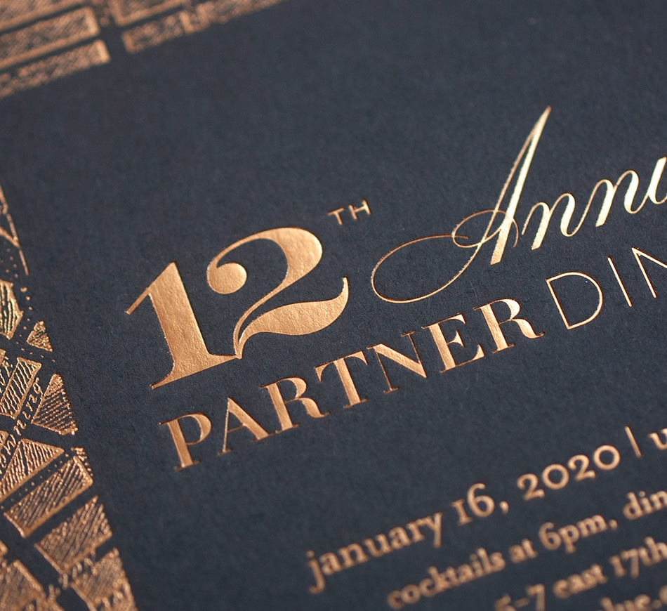 Gold foil typography