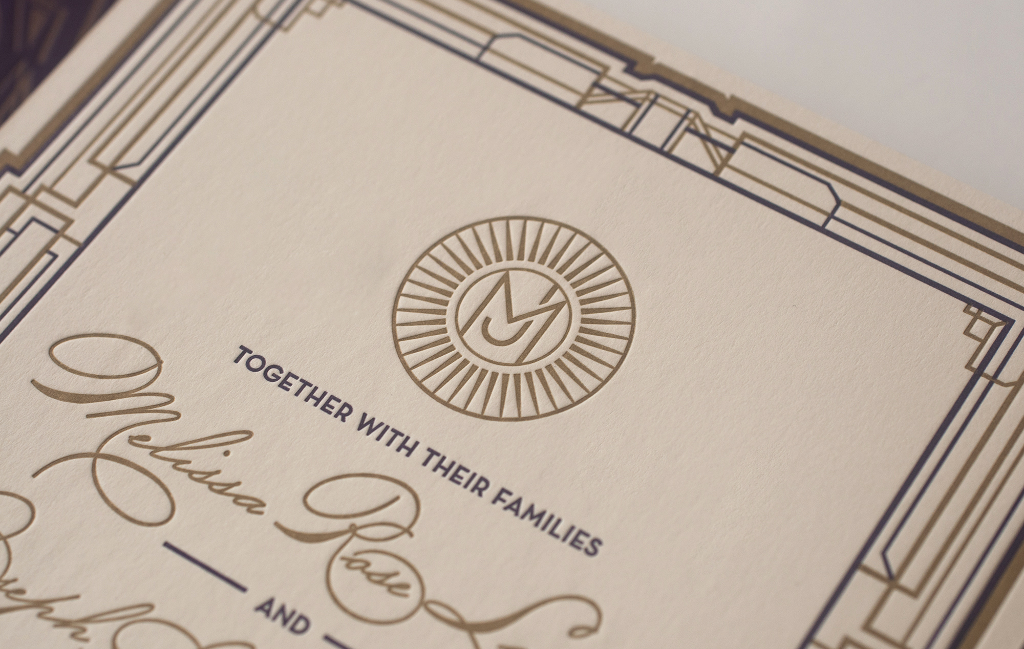 Letterpress Art Deco monogram