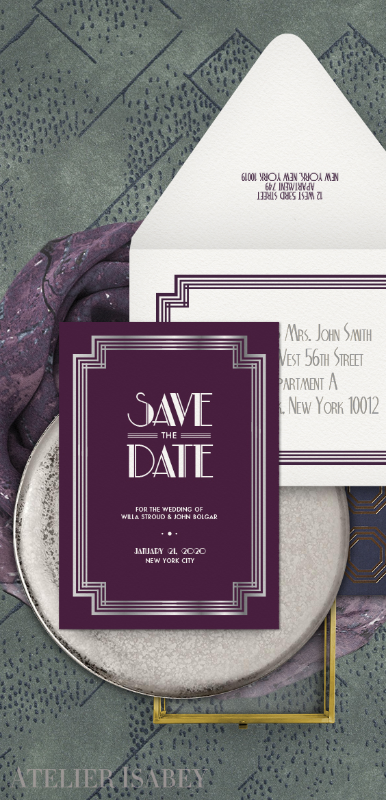 New York Art Deco Save the Date